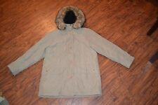 F7- Hudson Place Fuzzy Hooded Coat Size Medium