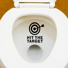 HIT THE TARGET Bathroom Decor Art Stickers Toilet Seat Removable Decal Mural DIY