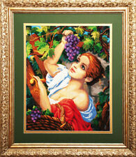 "Bead Embroidery kit GOLDEN HANDS MK-003 - ""Grape picker"""