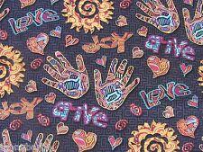 Graffiti City Wall Paint Art Southwest Latin Joy on Cotton Fabric By The Yard