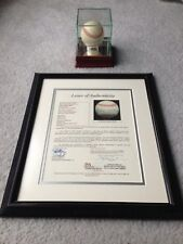 Mickey Mantle Autographed Ball JSA X22335 NY Yankees Framed Letter LOA & Case