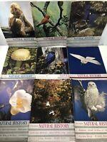 9 Vintage Natural History Magazines Lot Year 1945 Science History Ephemera 1940s