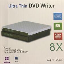 Portable External Ultra Thin Usb 3.0 Dvd Player Recorder Writer 8x