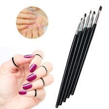 Nail Art Painting Acrylic UV Gel Salon Pen Flat Brush Kit Set Dotting 5 PCS