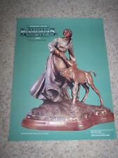 Vintage VERYL GOODNIGHT Art Gallery Poster BACK FROM THE BRINK Bronze 2002