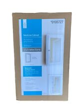 Bathroom Medicine Cabinet Framed Recessed or Surface-Mount White StyleSelections
