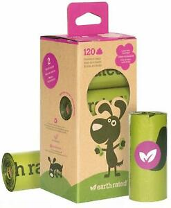 Earth Rated Biodegradable Lavender Scented Dog Poop Waste Bags Pack of 120