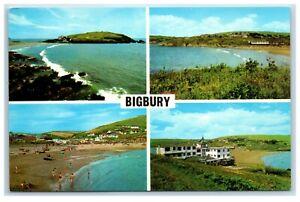 Postcard Bigbury South Devon 4 views