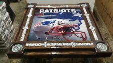 New England Patriots Heineken Cupholders Domino Table by Domino Tables by Art