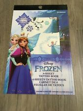 Disney Frozen Temporary Tattoo Book 4 Sheets Over 50 Tattoos Elsa, Anna Olaf NEW