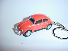 3D ORANGE VOLKSWAGEN BEETLE CUSTOM KEYCHAIN keyring KEY CHAIN VW bug BACKPACK