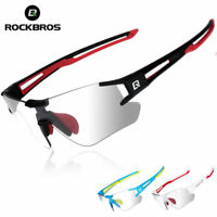 ROCKBROS Photochromic Cycling Sunglasses Running Sports Eyewear UV400 Glasses