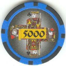 5 pc Kings Cross high value poker chips sample set #32
