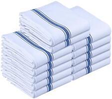 Dish Towels 12 White Cotton Striped 15 x 25 Kitchen Tea Towels Utopia Towels