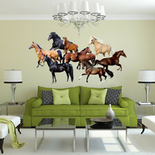 HK- Horse Pattern Wall Art Sticker Living Room Home Office Decoration Decal Sple