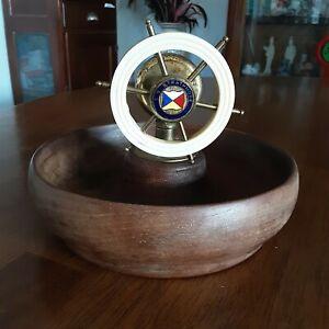 Rare SS Strathmore P&Ocean Liner Nut Cracker ship wheel Made In Engl Nautical