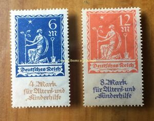 EBS Germany 1922 - Aged & Children's Charity - Nothilfe - Michel 233-234 MNH**