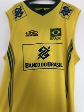 Brazil National Volleyball Team Shirt Jersey Olympikus Vest Size Large (G)