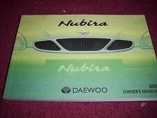 2000 DAEWOO NUBIRA FACTORY NICE USED ORIGINAL COMPLETE OWNERS MANUAL
