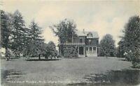 C-1905 Michigan State Normal School Ypsilanti President House Postcard 12571