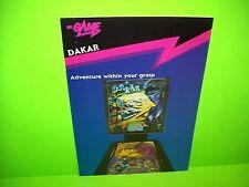Mr Game DAKAR Original 1988 Flipper Game Pinball Machine Promo Sales Flyer Rare