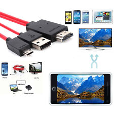 11Pin Micro USB/HDMI/MHL HDTV Cable for TV/Projector/1080P Samsung S3 S4 S5 Note