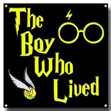 HARRY POTTER THE BOY WHO LIVED METAL SIGN, MAGIC, FILM , WANDS, HOGWARTS