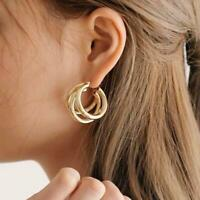 Geometric Multi-Layer Small Round Earring Circle Earrings Fashion Ear Studs Q