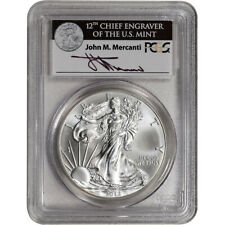 2012 American Silver Eagle - PCGS MS70 Mercanti Signed
