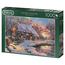Falcon De Luxe The Poets Cottage 1000 Piece Christmas Jigsaw Puzzle 11133