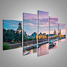 Dresden am Abend Bild auf Leinwand BLM-MFP