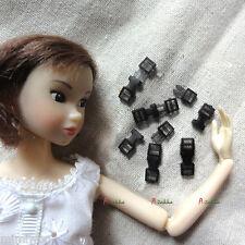 1/6 Bjd Dollfie Bag DIY Material Mini Backpack Buckle 16mm Solid Black (10 sets)