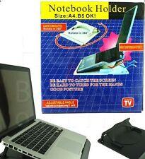 BASE NOTEBOOK HOLDER SUPPORTO COMPUTER PC PORTATILE. Nuovo in scatola!