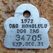 1972 Hawaii Dog License Tag in original wrapper retro new mint