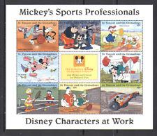 St. Vincent 1996 Disney/Sports/Games/Racing Car/Basketball/Tennis 8v sht n13513