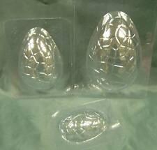 Conjunto de 3 Huevo De Pascua Chocolate Moldes/Moldes para Decoración de Pasteles. UK Made. Gratis P&P