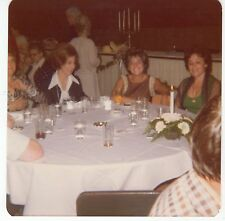 Vintage Original Photo 3 Pretty Mature Women, Restaurant Table, 1970's