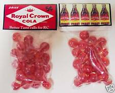 2 BAGS OF ROYAL CROWN SODA 5 CENTS  COLLECTOR MARBLES