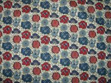 """Liberty Tela de algodón popelín Diseño """"Lucy Margarita"""" 2 metros (200 Cm) Rojo Y Azul"""
