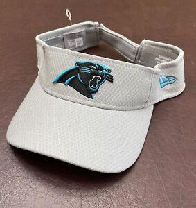 Men's Carolina Panthers New Era NFL Training Camp Official Visor Hat NWOT Gray