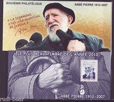 Frankreich Block 168 **  5 Todestag von Abbe Pierre Nr. 4805 im Sonderblock