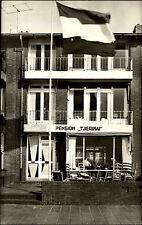 Katwijk aan Zee Niederlande s/w Postkarte ~1950/60 Pension Tjermimai ungelaufen