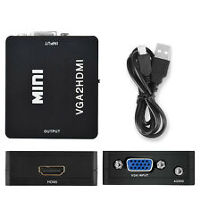 VGA Input to HDMI Output Converter Adapter with Audio, Support [1920x1080P 60Hz]