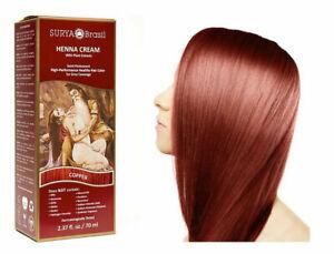 Surya Brasil Henna Cream Kit - Copper 70 ml, Hair Colour, 100% Grey Cover