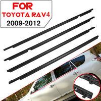 For Toyota RAV4 4PC Door Auto Window Trim Moulding Belt Weatherstrip