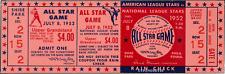 1 1952 ALL-STAR GAME VINTAGE UNUSED FULL TICKET BASEBALL reproduction laminated!