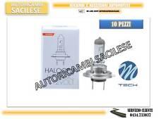 10 LAMPADINE ALOGENE H7 12/55W OMOLOGATE M-TECH ALTA QUALITA'