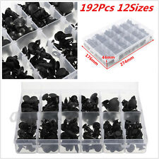 192 Clips Automotive Push Pin Retainer Assortment Kit For Toyota /Honda /GM/Ford