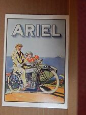 Postcard Advertising Ariel Motorcycles  Old Advert Modern card unposted