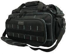 DDT Ranger ICE Black & Teal Blue Padded 4 Gun Pistol Range Bag Tactical Shooting